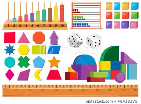 Set of math object 48438378