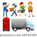Set of mail delivery 48438380