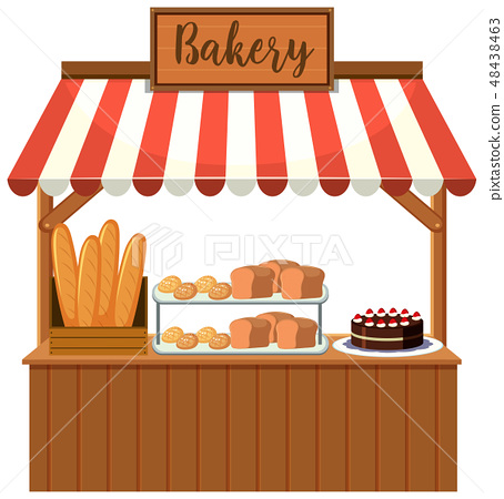 A bakery food stall 48438463