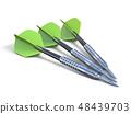 Three green darts 3D 48439703