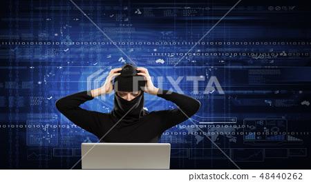 Internet security concept 48440262