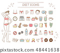 飲食美學圖標集(自然色) 48441638