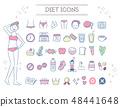 飲食美學圖標集(流行色) 48441648