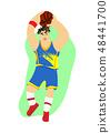 運動員 籃球 卡通 48441700