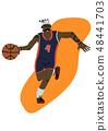運動員 籃球 卡通 48441703