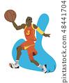 運動員 籃球 卡通 48441704