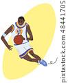 籃球 運球 男性 48441705