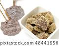 흑설탕 흑설탕 흰색 배경 오키나와 설탕 식품 식품 음식 유기농 건강 사토 달콤한 48441956