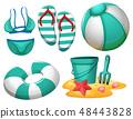 Set of beach element 48443828