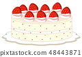 An isolated strawberry cake 48443871