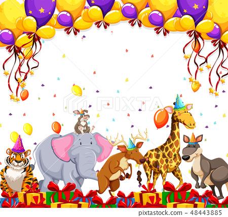 Animal party celebration concept 48443885