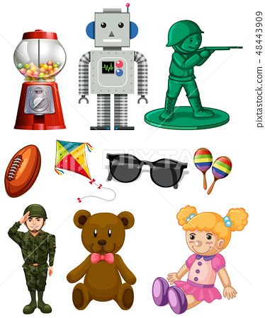 isolated cartoon toy pack 48443909