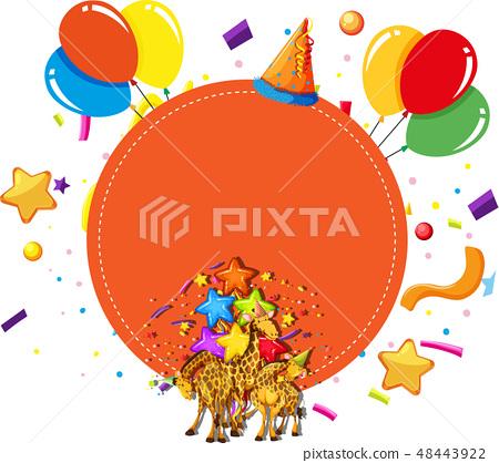 giraffes party celebration concept 48443922