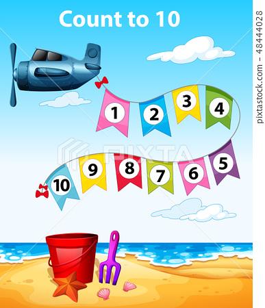 Count to 10 plane scene 48444028