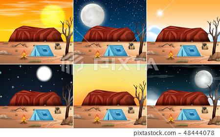 Set of desert scenes 48444078