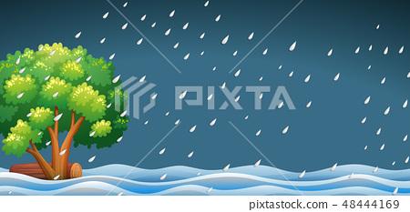 A raining nature landscape 48444169