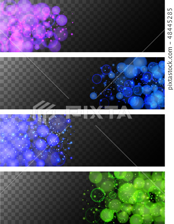 Four black background with blue and green lights 48445285