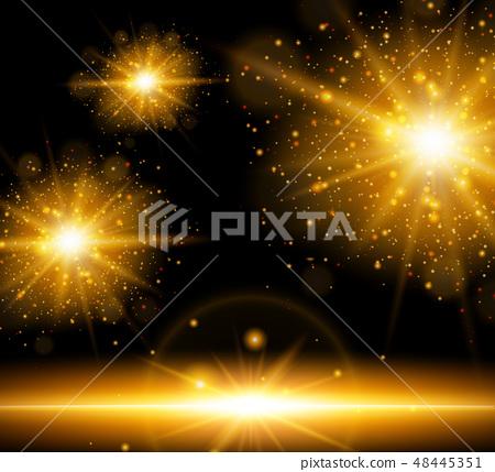 Background with orange burst of lights 48445351