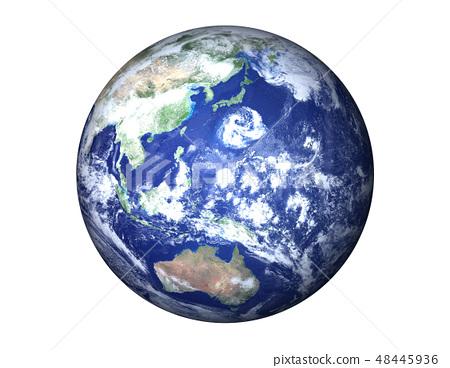 地球(日本附近的巨大颱風) 48445936