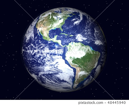 지구 (아메리카 및 남미) 별 수 48445940