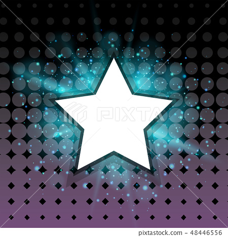 Star frame with blue light in background 48446556