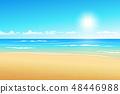 Seascape vector illustration. Paradise beach. 48446988