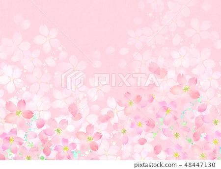 櫻花水彩風格紋理 48447130