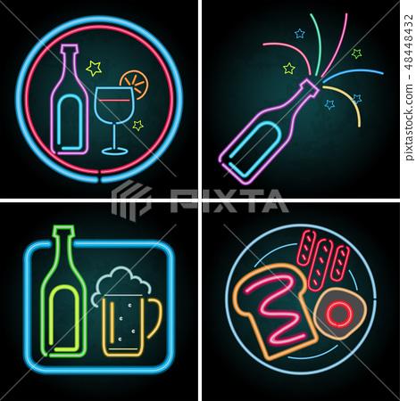 Neon light design for beverage 48448432