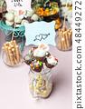 Candy bar at a wedding 48449272
