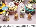 Candy bar at a wedding 48449290