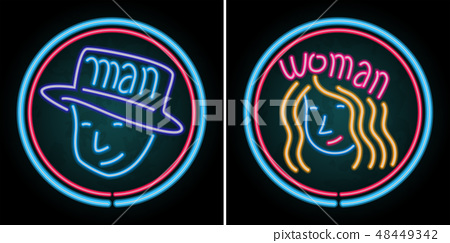 Neon light design for man and woman 48449342
