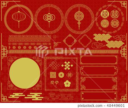 中國風格的框架 48449601