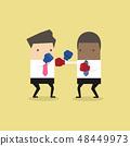 การต่อสู้,ชกมวย,นักธุรกิจ 48449973