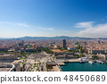 Cityscape of Barcelona Aerial view - Spain 48450689