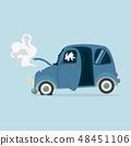 Mini Car accident vector 48451106