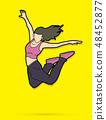 Street dance, B boys dance, Dancing action graphic 48452877