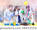 Excited scientists in lab 48453550