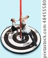 Business target goal teamwork concept 48455580