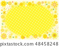 Sunflower frame postcard background material 48458248