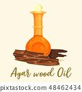 Agar wood perfume or agarwood oil in bottle 48462434