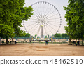 a Ferris wheel   in the Tuileries garden in Paris 48462510
