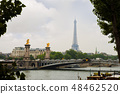 paris bridge with eiffel tower in the background 48462520