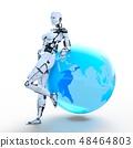 인간형 로봇 perming3DCG 일러스트 소재 48464803