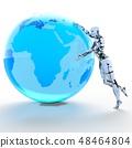 인간형 로봇 perming3DCG 일러스트 소재 48464804