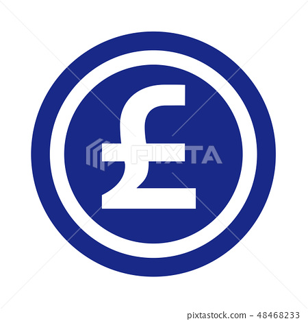 Pound Currency Symbol Coin Silhouette
