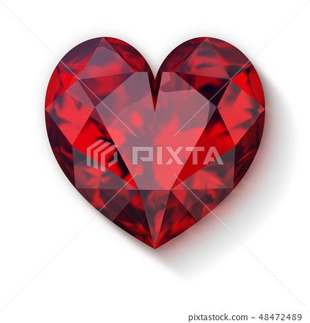 ruby heart 48472489