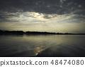ทิวทัศน์แม่น้ำภูมิทัศน์แม่น้ำน้ำแม่น้ำสภาพแวดล้อมทางธรรมชาติท้องฟ้ายามโพล้เพล้ 48474080
