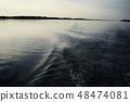 ทิวทัศน์แม่น้ำภูมิทัศน์แม่น้ำน้ำแม่น้ำสภาพแวดล้อมทางธรรมชาติท้องฟ้ายามโพล้เพล้ 48474081