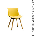 Yellow color chair, Modern chair 48474349