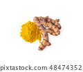 Turmeric on white background 48474352